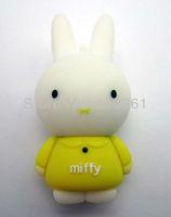 Rabbit Yellow 100% Genuine Capacity 4GB 8GB 16GB 32GB USB 2.0 Flash Memory Stick Pen Drive Thumbdrive U Disk Storage Device