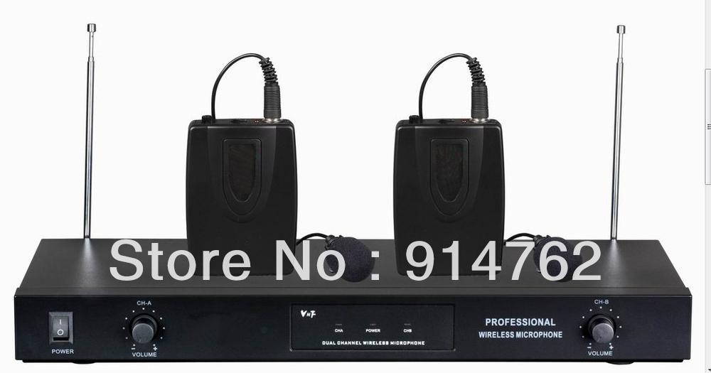 TWIN WIRELESS CORDLESS DJ KARAOKE PARTY MIC MICROPHONE RECIEVER SYSTEM SET AP-2160(China (Mainland))
