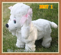free shiping Jumping Dog will go/will call/will turn a somersault Children gift Wool Electric Toy Dog