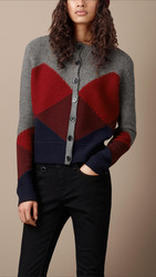 Top design original factory Wool cashmere blended fabric cardigan women's sweater(China (Mainland))