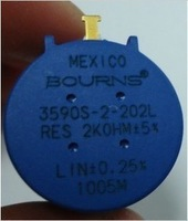 Free shipping, 10pcs Precision multi-turn potentiometer 3590S-2-202L 2K origin Mexico