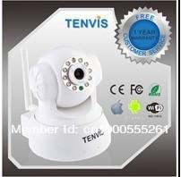 TENVIS Wireless Pan Tilt IP Camera Night Vision Surveillance Camera + 2-Way Audio IR-CUT