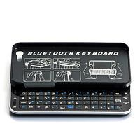 whole sale 20pcs/lots New Arrival! Bluetooth Backlight Ultra-thin Slide-out Wireless Keyboard for iPhone 5 5G