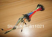 Free shipping ,65pcs=1LOT*10 New Solderless Flexible Breadboard Jumper wires Cables .HOT sell !!!