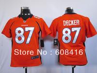 Free Shipping ,2013 NEw Style DenverDenver #87 Eric Decker Women Orange/White Elite Football Jersey ,Size S-2XL ,Can mix order