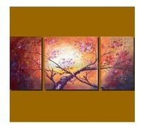 Hand Wall Art Modern Plum Blossom Landscape Flowers Oil Painting Php117