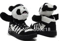 Free shipping new arrival hot sale sweet lovely Panda shoes bones men and women shoes high-tops casualshoes