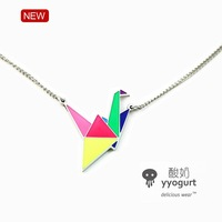 Yyogurt jewelry enamel necklace female accessories free air mail