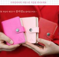 gentlewomen PU three-color matte popper card holder wallet free air mail