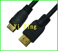 Free shipping 2M mini hdmi cable for tablet PC , 1.3v 1080P FULL HD,10pcs/lot