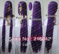 Free shipping>>>X55@  New long Dark Purple Cosplay Party Wig 100cm
