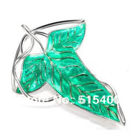 Green Fairy Leaf Brooch Replica Jewelry in The Lord of The Ring Movie Special Gift for Collection Wholesale