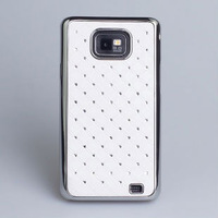 wholesale-Competitive Products luxury Chrome Starring Bling diamond Stars Case  For I9100 Galaxy SII  , Free shipping 10pcs/lot