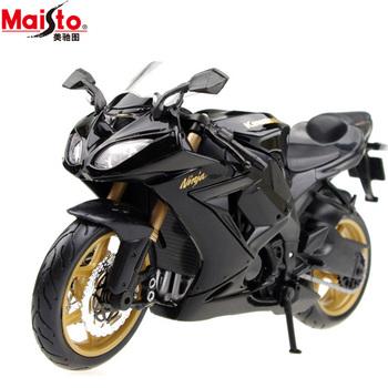 Cars alloy motorcycle model KAWASAKI zx 10r black sports car street bike