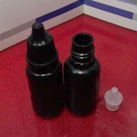 Free Shipping 10ml plastic Dropper bottles Black Eye Drop Bottle Dark bottle