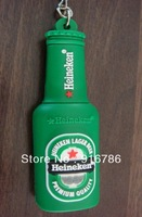 Green Lager Beer Bottle Silicone USB Flash Drive 2.0 with Genuine Capacity of 8GB