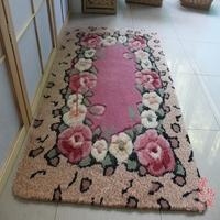 Flower  carpet antechapel pad mat slip-resistant mats 80 120cm 3