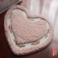 Ultrafine soft mats heart mats slip-resistant mats love carpet 50 65cm .