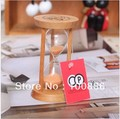 3 minutes leisure hourglass bamboo material timer fashion household adornment best gift free shipping