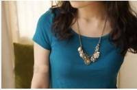 Pockets Embellished Lapel Long Dress White free shipping (us) N10091801-3