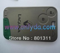 HIGH QUALITY LOW PRICE  Renault Laguna &Velsatis & Espace 2 button remote key card with 434mhz  4pcs/lot for selling