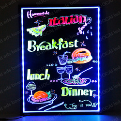 Ali express free shipping 2013 new design eye-catching restaurant led menu board(China (Mainland))