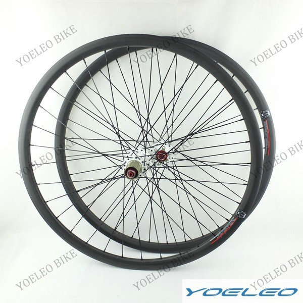 "32H/32H MTB 29"" Carbon Wheels UD Matt Clincher 28mm Depth with Black Spoke White Novatec Hub D711SB/D712SB-AA(China (Mainland))"