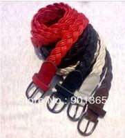 Women's Weaved Leather Waist Belt Chain