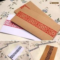Free shipping  Wholesale  200pcs/lot Chinese Style 120g Kraft  Paper Envelopes 110*220mm