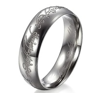 New Arrival 316L Stainless Steel High Polished Men' The Lord of The Rings,Eroding Rings  SZ#7-12,Comfort Fit,6MM Width
