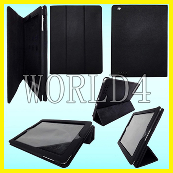 For iPad 3 2 Leather Case Leather Case Cases for iPad 2 2G 2th with auto wakes up standby function 120pcs AU free DHL shipping(China (Mainland))