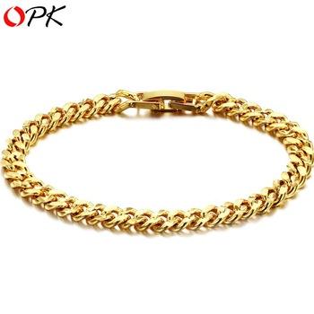OPK JEWELLERY new arrival 18K Gold plated Bracelet handmade Fashion Jewelry top quality  358