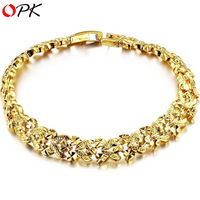 OPK JEWELLERY hot selling wedding jewelry18K Gold plated Bracelet handmade top quality 362