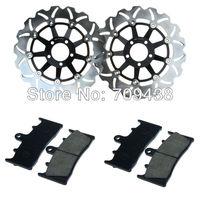 2 X Front Brake Disc Rotor+Pad For KAWASAKI ZX9R (ZX 900) 00-01 ZRX 1100 (ZR 1100) 97-00 ZRX 1200 R (ZR 1200) 01-08 S 01-07