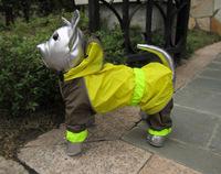 2014 New hot fashion pet raincoat four feet raincoat Pet dog raincoat waterproof wellsore chow husky