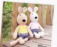 Popular cartoon plush toy le sucre rabbit sugar rabbit pillow doll dolls 65cm