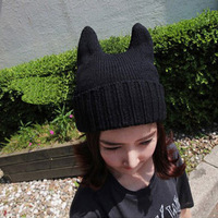 2013 Wool hat qiu dong han female demon cat ear Angle for both men and women in South Korea MaoXianMao knitting