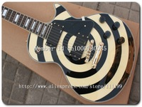 High Quality - Custom Zakk Electric Guitar - Bull's Eye in black and cream Custom Guitars 11