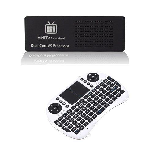 MK808 Android 4.1 Mini PC TV Dongle IPTV Box Rockchip RK3066 1.6GHz Dual Core bluetooth 1GB RAM 8GB ROM with Mini Keyboard(China (Mainland))