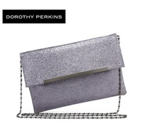 extravagant fashion silver gray sequins handbag shinning evening patry bag sexy chain messenger bag