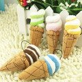 Ice cream style plush mobile phone chain toys wedding gift
