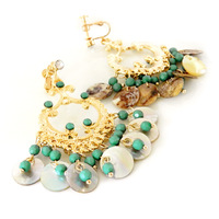 Accessories noble natural shell earrings no pierced earrings female j0230