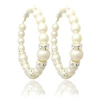 Small accessories pearl hoop earrings no pierced earrings female d0070