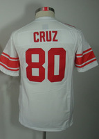 #80 Victor Cruz Kids Youth Game White Football Jersey
