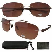 SR14002 Patented Sun Readers Rimless Bifocal Sunglasses For Men and Women W/case+1.00/ +1.25/+1.50/+1.75/+2.00/+2.25/+2.50