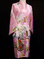 JBNNMNT  Chinese Women's Silk Satin Kimono Robe/Gown  size M.L.XL.XXL.  WRTY-027