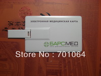 Cheapest gift credit card usb flash driver with 512M capacity full color printing usb flash driver