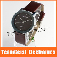 HOT Sale Brand NEW Fashion Leather Wristwatch womage Band Quartz Lady's Leather Wrist Watch 5 colors Wedding Gift Free Shipping