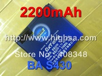 2200mAh BA S430/BB92100 Battery Use for HTC HD mini/T5555 / Aria/Google G9 - HTC Aria A6380 etc Mobile Phones