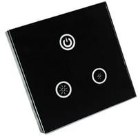 0-10V LED touch panel dimmer,AC90-240V input,voltage signal 0-10V output